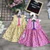 Váy hoa ren ngực xuân hè bé gái size 2-6  - VT2095-
