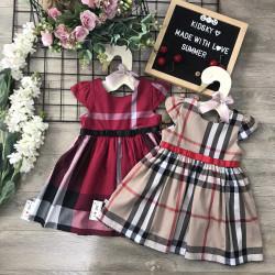 Váy kẻ BBR bé gái xuân hè size 2-6 -VK20155