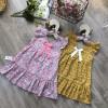 váy tay tiên nơ cổ đuôi cá size 4-8  -VT20255-