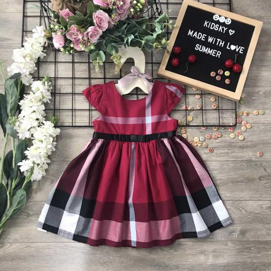 Váy kẻ BBR bé gái xuân hè size 2-6