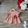 Áo chấm bi đũi hoa tay loe size 2-6  - AV50305-