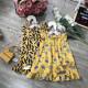 Váy boi hoa đuôi cá vạt lệch- V50125-VÁY XUÂN HÈ BÉ GÁI
