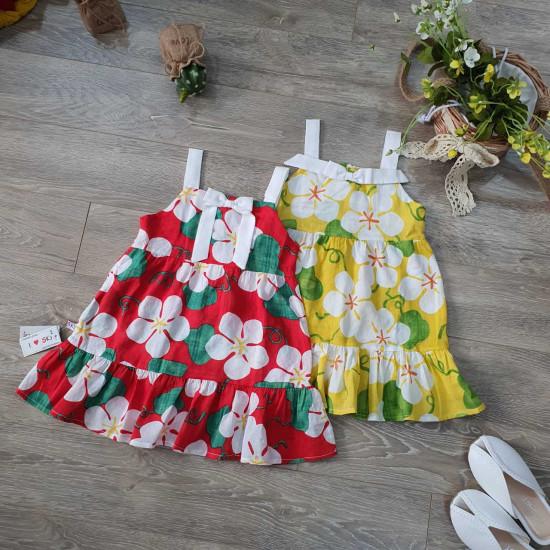 Váy hoa boil 2 dây size 2 -6   - V50265-