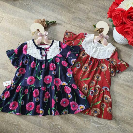 Váy hoa lụa đuôi cá - V50215-VÁY XUÂN HÈ BÉ GÁI