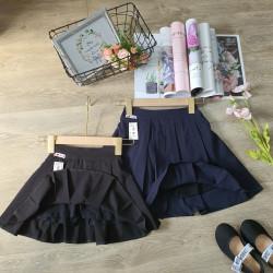 Chân váy học sinh xếp ly 2 mầu đen và xanh than size 5 -15