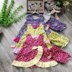 Bộ lanh hoa vạt chéo size 2-6  - B6085