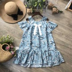 Váy hoa thô size đại 9-12  - v50294