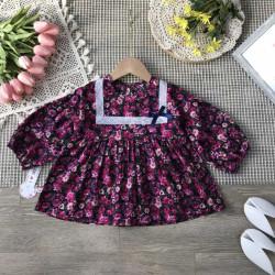 Áo váy babydoll hoa nhí size 2-6
