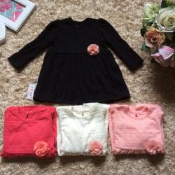 Áo váy len phối hoa đính ngực  size 2-6