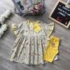 Bộ áo váy tay loe quần legging size 2 -6-BỘ XUÂN HÈ BÉ GÁI