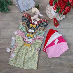 Bộ đồ bé gái - áo hoa tay tiên kết hợp với quần legging