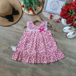 Váy hoa thô sát nách ren ngực size 2-6