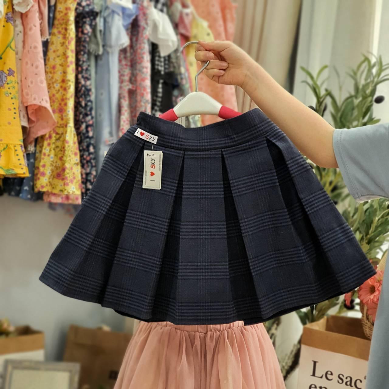 chân váy xếp ly kèm quần bên trong cho học sinh - sản phẩm bán sỉ giá tốt
