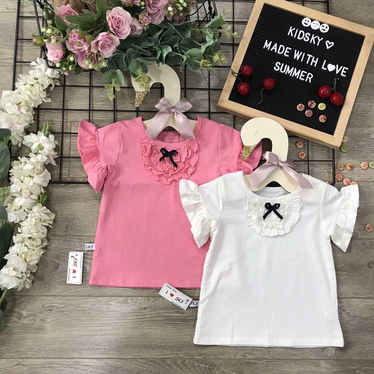 áo thun cotton 4 chiều - Bông Hoa Nhỏ